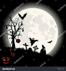 halloween background moon halloween background full moon lantern spooky stock vector