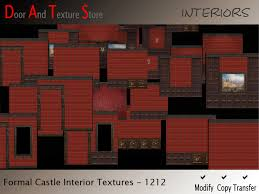 Interior Textures Second Life Marketplace Castle Interior Wall Textures Red Plaid