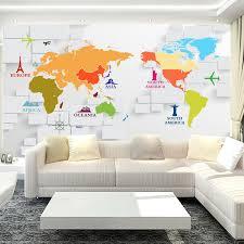 livingroom world custom 3d photo wallpaper 3d stereoscopic world map wallpaper for