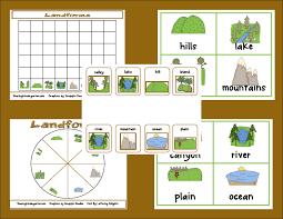 landforms ahead sharing kindergarten