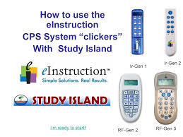 how to use the einstruction cps system u201cclickers u201d with study