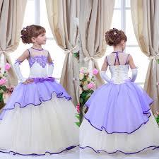 Lilac Dresses For Weddings 2015 Purple Lavender Lilac Flower Dresses For Weddings Jewel