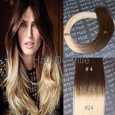 ombre extensions 10 pieces 20 inches balyage ombre two tone in