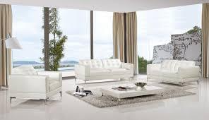 Contemporary White Leather Sofas Modern 3 Italian Top Grain White Leather Sofa Set Usa