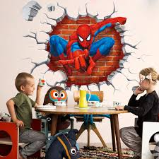 new spider man stereo walled children s bedroom bedroom wall new spider man stereo walled children s bedroom bedroom wall sticker wholesale removable wall decal adhesive wall decal art from tttop7 4 18 dhgate com