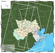 houston fault map mapping ground deformation houston galveston using