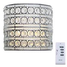 Wireless Wall Sconce With Remote Amazon Com Decorative Led Wall Sconce Lighting 8 Inch Glam Doll
