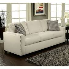 furniture of america neveah ivory contemporary sofa overstock