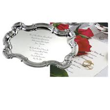 engraved tray pewter and sterling silver wedding invitation trays
