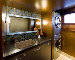 contemporary laundry room cabinets how to stack a washer and dryer for contemporary laundry room also
