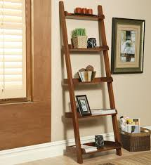 Narrow Mahogany Bookcase by Furniture Slanted Bookshelves Leaning Bookcase Leaning