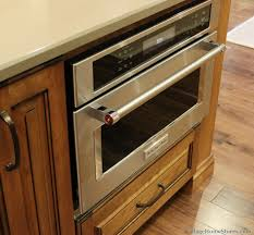 microwave in island in kitchen kitchenaid built in convection microwave installed into a large