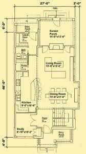 Cottage Floor Plans With Screened Porch Narrow Lot Roomy Feel Hwbdo75757 Tidewater House Plan From