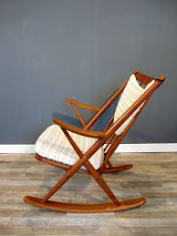 Rocking Chair Teak Wood Rocking Danish Teak Gyngestol Model 182 Rocking Chair By Frank Reenskaug
