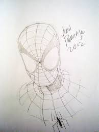john romita jr spiderman head sketch lee u0027s spiderman comic
