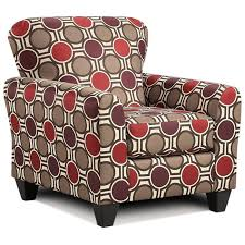 lehigh pattern fabric accent chair compass claret dcg stores
