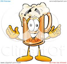 beer cartoon clipart picture of a beer mug mascot cartoon character with