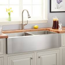 pictures of farmhouse sinks 42 ackerman double bowl stainless steel farmhouse sink wave apron