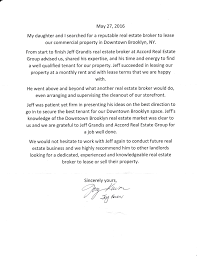 Real Estate Business Letter by Testimonial Letter From Joy Kwon