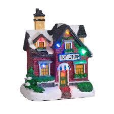mini lights for christmas village battery operated led light up christmas village scene by lights4fun