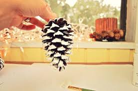 diy snow covered pine cone ornaments the frugal farm