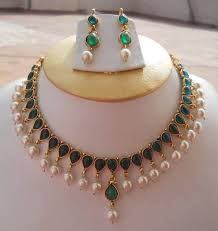 pearls necklace real images Emerald necklace with real pearls necklace necklace haaram jpg