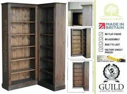 Corner Bookcase Wood Corner Bookcase Wood Traditional L Shape Adjustable Corner