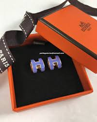 h earrings just arrived bnib hermes pop h earrings in rghw