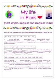 54 free esl regular and irregular verbs worksheets