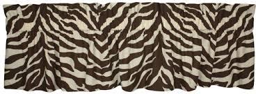 Zebra Valance Curtains Brown Zebra Print Designer Window Curtains