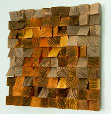 wood wall geometric wood industrial decor factory rust