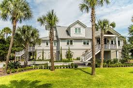 charleston palm tree landscaping exterior beach style with second