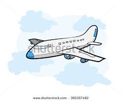 vector flying vintage color plane banner stock vector 434777479
