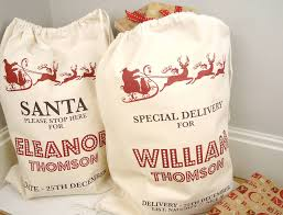 personalised sack by tailored chocolates and gifts