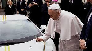 Pope Meme - pope francis signs a lamborghini know your meme