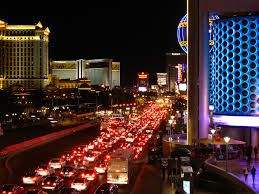 Las Vegas Hotels On The Strip Map by Traffic On The Las Vegas Strip Compounded By Road Constru U2026 Flickr