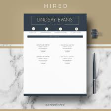 Profesional Resume Template Professional Resume Template Archives Hired Design Studio