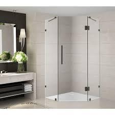 38 Inch Neo Angle Shower Doors Dreamline Prism 34 5 16 In X 34 5 16 In X 72 In Frameless