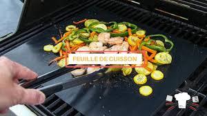 cuisine sans graisse feuille de cuisson pour bbq réutilisable feuille de cuisson sans