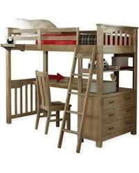 autumn special hillsdale highland twin loft bed with desk in