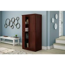 south shore storage cabinet south shore morgan royal cherry storage cabinet 7246971 the home depot