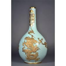 Chinese Celadon Vase Chinese Celadon Vase Gold Dragon Yongzheng
