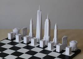 Unique Chess Pieces Stylish Chess Set Pieces Modeled After Iconic Nyc Architecture