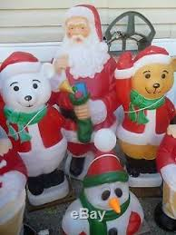 Blow Mold Christmas Yard Decorations Vintage Christmas Blow Mold Lot Of 14 Christmas Yard Decor Santa