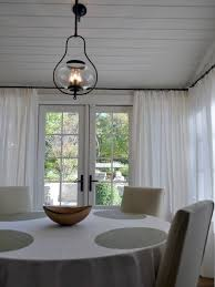 Glass Jar Pendant Light Cottage Dining Room With Pendant Light By Morgan Keefe Builders