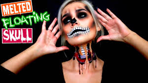 floating skull halloween makeup tutorial youtube