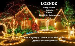 home accents 200 led mini lights amazon com loende battery operated string lights 72ft 200 count 8