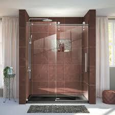 Bathroom Shower Doors Home Depot by Dreamline Enigma Z 56 In To 60 In X 76 In Frameless Sliding