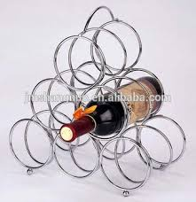 triangle chrome plated standing wire wine rack buy fancy wine