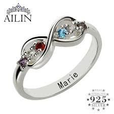 mothers infinity ring online shop infinity birthstone rings personalized s ring